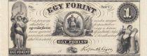 Hongrie 1 Forint 18xx - Figures allégoriques, reminder