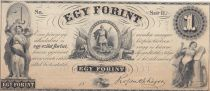 Hongrie 1 Forint Liberté et Justice - 1852 Uniface