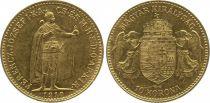 Hongrie 10 Korona François Joseph I - Anges et Armoiries (1892 à 1910)