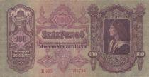 Hongrie 100 Forint  - Roi Matyas - Armoiries - 1930 - TTB - P.98