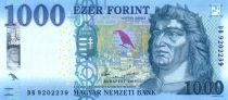 Hongrie 1000 Forint 2017 - Roi Matyas, Fontaine