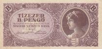 Hongrie 10000 B-Pengö 1946 - Portrait de femme