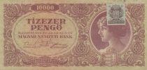 Hongrie 10000 Pengö 1945 - Portrait de femme - Timbre adhésif MNB