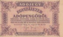 Hongrie 100000 Adopengö 1946 - Violet