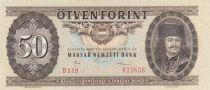 Hongrie 50 Forint 1986 - Ferenz Rakoczi, bataille, cavaliers
