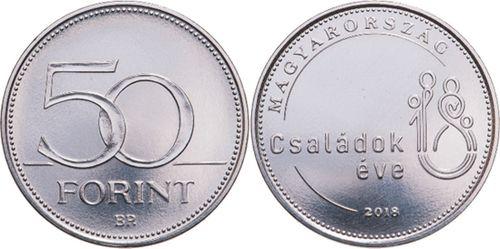 Hongrie 50 Forint 2018 - Année de la Famille