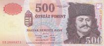 Hongrie 500 Forint 1998 - Ferenc Rakoczi, Château de Sarospatak