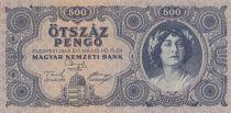 Hongrie 500 Pengö 1945 - Portrait de femme