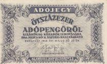 Hongrie 500000 Adopengö 1946 - Gris