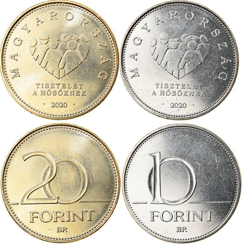 Hongrie Série incluant la 10 et 20 Forint - Hommage aux soignants - Lutte contre le Covid - 2020 - SPL