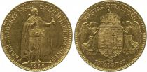 Hungary 10 Korona Franz Joseph I - Angels and Arms 1892-1910