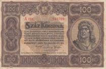 Hungary 100 Korona King Matyas - 1920 - Fine + - P.63a Serial A.051