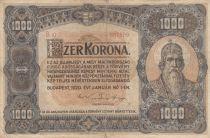 Hungary 1000 Korona St Stephan - 1920 - Fine - P.66a Serial B10