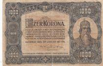 Hungary 1000 Korona St Stephan - 1920 - Fine - P.66a Serial B.18