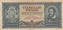 Hungary 10.000.000 Pengo - Kossuth - 1945 - F - P.123 - various serial
