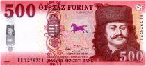 Hungary 500 Forint Ferenc Rakoczi, Sarospatak Castle - 2018 (2019) - UNC