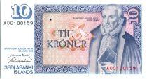 Iceland 10 Kronur A. Jonsson - Old household scene - 1981