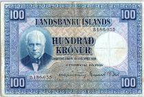 Iceland 100 Kronur,  J. Sigurdsson - Herd of sheep - 19(48-55) - P.35 a