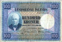 Iceland 100 Kronur,  J. Sigurdsson - Herd of sheep - 19(56-57) - P.35 a