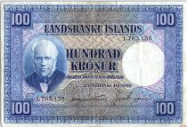 Iceland 100 Kronur, J. Sigurdsson  - Herd of sheep  - 1946 - P.35 a