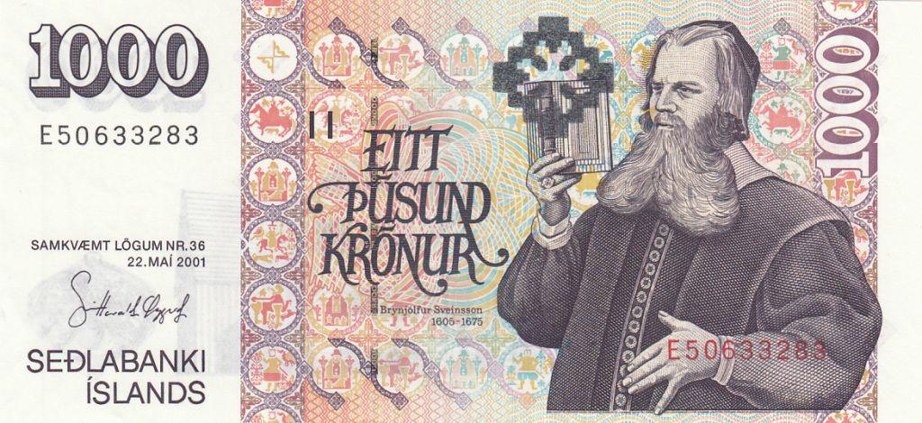 Iceland 1000 Kronur B.B. Sveinsson - Church - 2001 (2009)