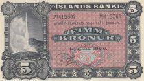 Iceland 5 Kronur Geyser - 1920 - UNC - P.15r