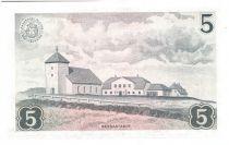 Iceland 5 Kronur L. Arnarson - Farm bldgs 1957