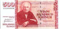 Islande 500 Kronur Jon Sigurthsson - 2001