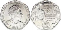 Ile de man 50 Pence Elisabeth II - Centennaire 1914-1918 - 2018
