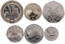 Ile de man Série de 6 pièces 5 pence à 2 Livres - 2017