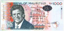 Ile Maurice 1000 Rupees Sir Charles Gaetan Duval - Maisons, jardin