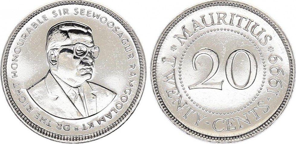 Ile Maurice 20 20 , Seewoosagur Ramgoolam Kt - 1999