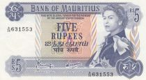 Ile Maurice 5 Rupees Elisabeth II - Série A.36 - Neuf - P.30c