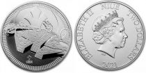 Ile Niue 2 Dollars Elisabeth II - 1 Once Argent  Falcon Millennium 2021