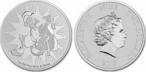 Ile Niue 2 Dollars Elisabeth II - 1 Once Argent Mc Duck Disney 2018