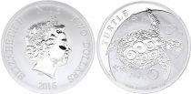 Ile Niue 2 Dollars Elisabeth II - 1 Once Argent Tortue 2016