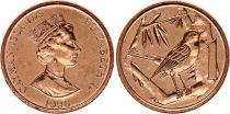 Iles Caïman 1 Cent Elisabeth II - Oiseau  - 1996