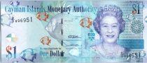 Iles Caïman 1 Dollar Elisabeth II - Poissons - Paysage - 2015