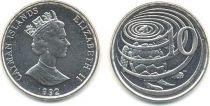 Iles Caïman 10 Cent Elisabeth II - Tortue