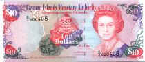 Iles Caïman 10 Dollars Elisabeth II - Plage - 2005