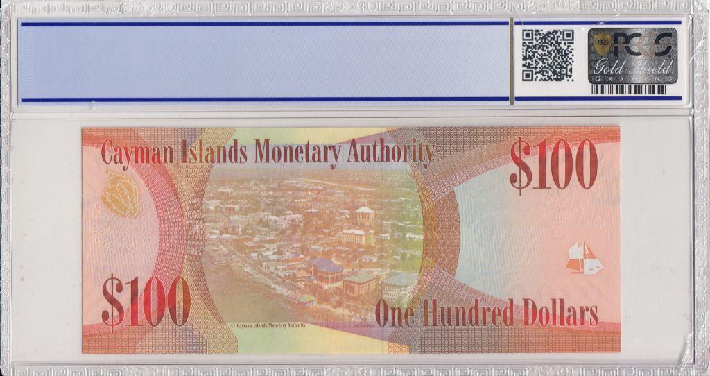 Iles Caïman 100 Dollars 2010 - Elisabeth II - Voiliers - PCGS 67 OPQ