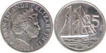Iles Caïman 25 Cents Elisabeth II - Voilier - années 1992 à 2008