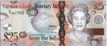 Iles Caïman 25 Dollars Elisabeth II - Tortue - 2010