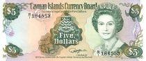 Iles Caïman 5 Dollars Elisabeth II - Voilier