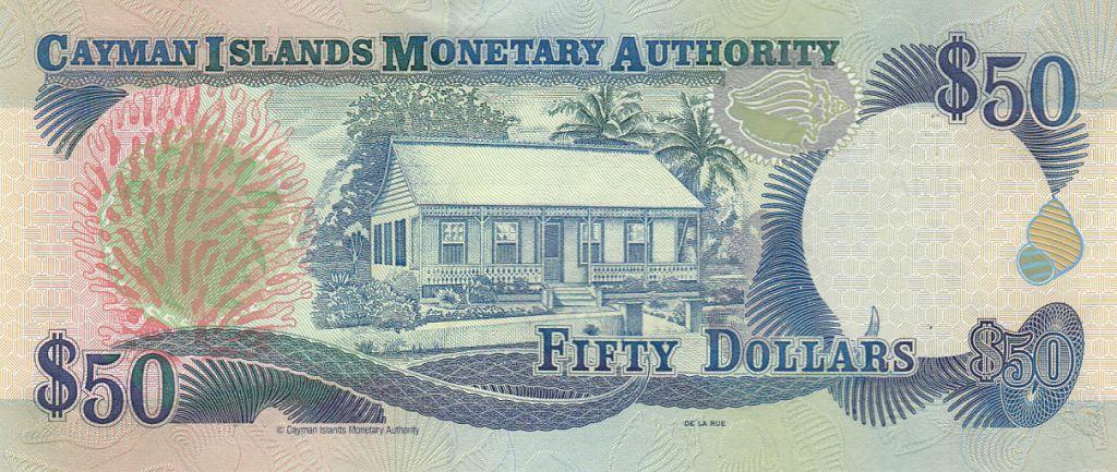 Iles Caïman 50 Dollars - Elisabeth II - Maison - 2001