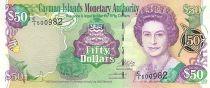 Iles Caïman 50 Dollars Elisabeth II - Hutte