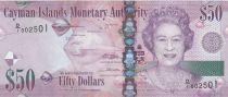 Iles Caïman 50 Dollars Elisabeth II - Raie 2010
