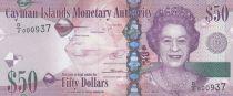 Iles Caïman 50 Dollars Elisabeth II - Raie 2014 (2018) - Neuf - Série D/2
