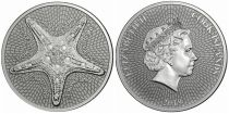 Iles Cook 1 Dollar Etoile de Mer - Elisabeth II - 1 Once Argent 2019