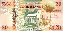 Iles Cook 20 Dollars - Eglise et Canoé - 1992